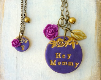 Mommy Daughter Necklaces- Mother Daughter Jewelry - Coordinated Mom Daughter jewelry