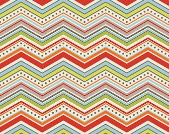 Riley Blake One For the Boys Cream Flannel Fabric, 1 yard