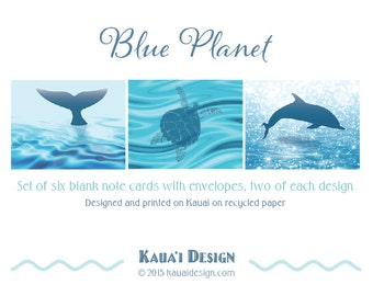 Blue Planet note cards