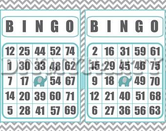 Printable Bingo Cards Boy Party Game bingo game birthday party diy party bingo birthday games birthday party games bingo set of 30 (800)