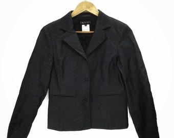 INDIVI Japanese Designer Three Button Blazer Jacket Sport Coat Made In Japan Size 38