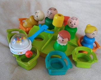 Vintage Fisher Price Little People Schoolhouse LOT