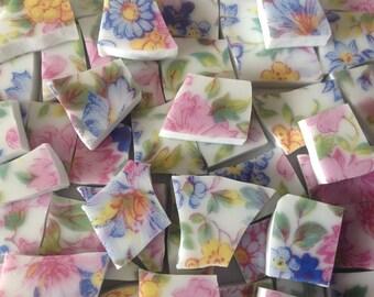 Broken China mosaic tiles~~Handcut Tile~~~ CHINTZ of JAPAN