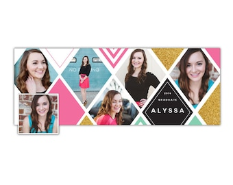 INSTANT DOWNLOAD - Senior Facebook timeline cover - Photoshop template - E1033