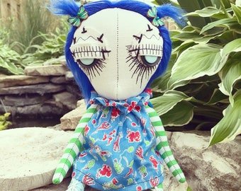 "Dandy Art Doll, Jalena- by Jen Musatto 12"" tall"