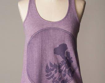 women's tank top, purple tank top, athleisure wear, athletic wear