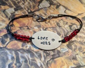 Love Wins Bracelet- IMMEDIATE SHIP