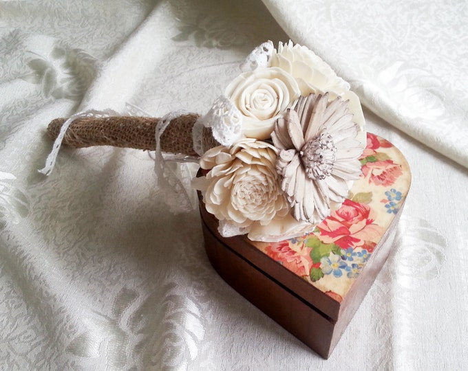Flower girl wand in rustic style