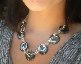 SALE FREE SHIPPING Hymelyte and Chain Necklace