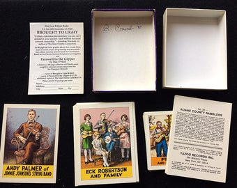 Rare Signed R. Crumb 1987 Pioneers of Country Music: A Set of 40 Cards Yazoo Records Mint