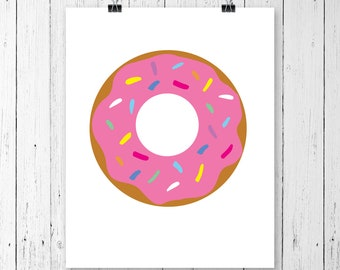 INSTANT DOWNLOAD! SVG, Sprinkle Donut Doughnut Svg, Dxf, Png, Pdf, Donut Cut file, Donut cutting file, Donut, Dxf Silhouette Cricut Vinyl