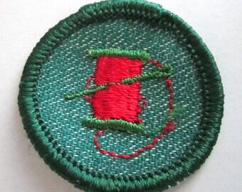 "Vintage Intermediate Girl Scout Badge ""Needlecraft"" circa 1950's"
