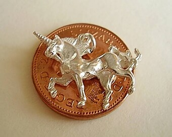 sterling silver Magical UNICORN charm  charms