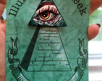 Illuminati on Fleek Handmade Pin