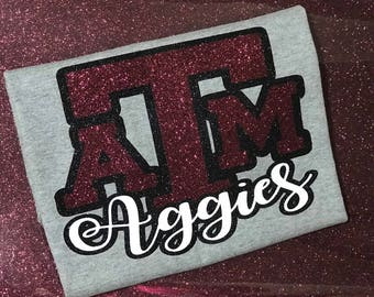 Aggies Glitter T-shirt