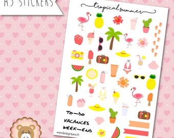 "Planners Stickers ""Tropical Summer"""
