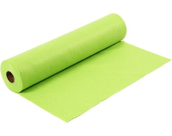 Synthetic, light green felt leaf, size: 100 cm * 45 cm, thickness 1.5 mm 180-200 g/m2