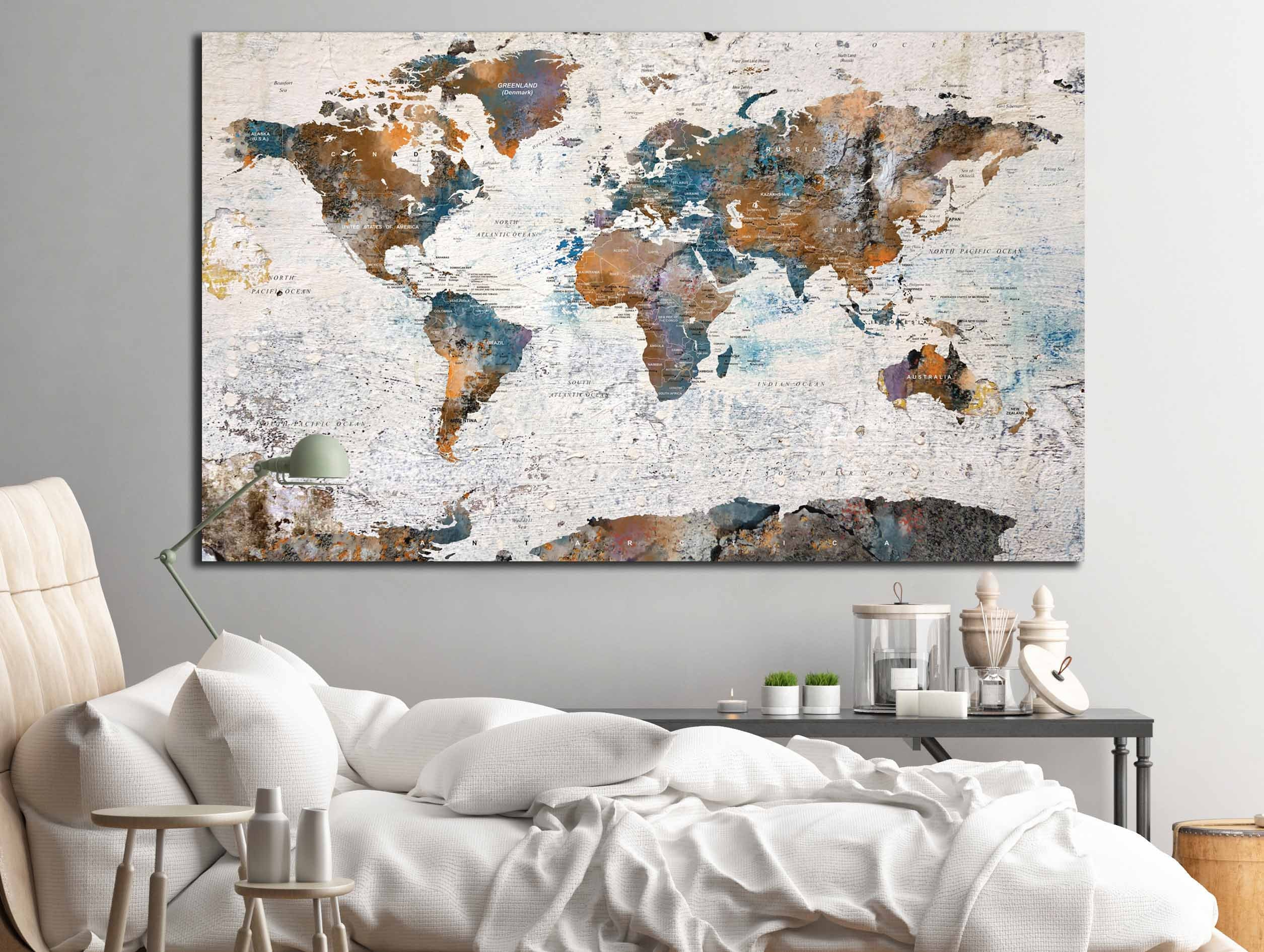 World map canvas single panelworld map wall artworld mappush pin largeworld map abstract art gallery photo gallery photo gallery photo gallery photo gumiabroncs Gallery