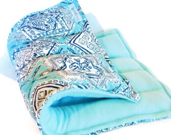LARGE Heat Pack, Microwave Heating Pad, Hot Cold Therapy Pack, Natural Relaxation Pillow Health and Wellness Gift, Organic Fibromyalgia Gift