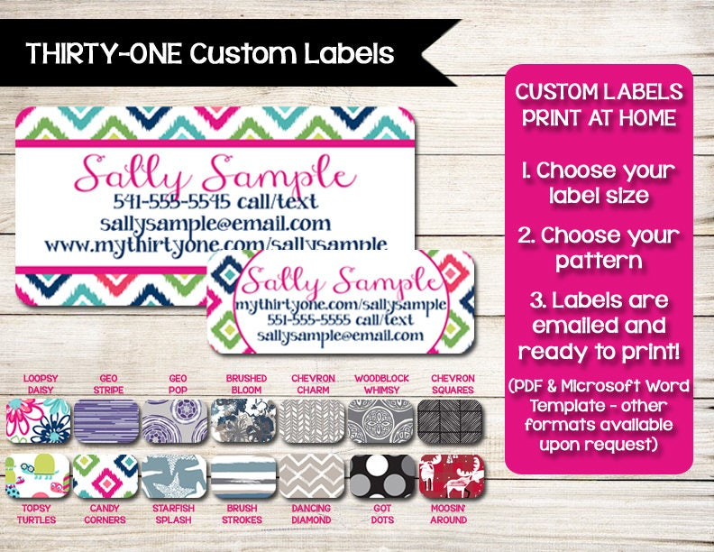 THIRTY-ONE Catalog Labels Stickers Catalog Label Order
