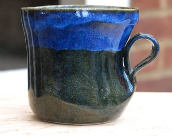 Unique handmade  ceramic mug , handmade gift, housewarming gift, kitchen, dining, stoneware,  blue mug, teamug, coffee mug