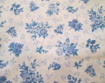 VIP Cranston Print Works Fabric - White and Blue - 3 yards