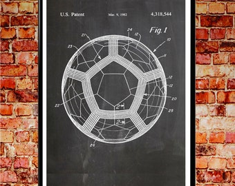 Wall Cup Ball Soccer Poster Football Print Football Patent Print Wall Art Football Wall Art Soccer Wall Art Soccer Decor Soccer Gifts WB059