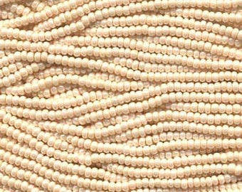 ON SALE 8/0 Eggshell Genuine Czech Glass Preciosa Rocaille Seed Beads 41 grams