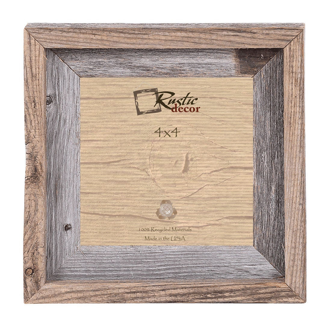 4x4-2 wide Rustic Barn Wood Signature Wall Frame
