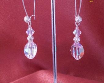 Bridal Aurora Borealis Crystal Drop Earrings