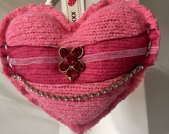 Lavender Heart Handmade Upcycled