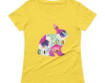 Rabbit Tshirt - Rabbit T Shirt - Womens T Shirt - Bunny T Shirt - Rabbit Printed T shirt - Graphic Tee - Ladies Tee
