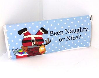 Been Naughty or Nice Candy Bar Wrappers - Christmas Candy Bar Wrappers - Christmas Candy