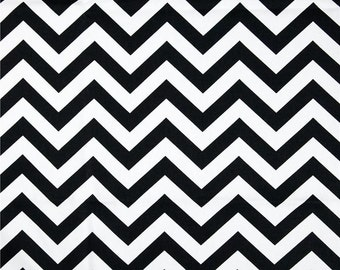 CLEARANCE SALE 1 yard Premier Prints black and white zigzag chevron home deco fabric