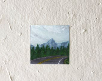 Curved Road - Tiny Art Print!