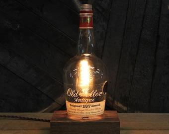 Old Weller Antique Whiskey Bottle Light /  Bourbon Bottle Lamp, Whiskey Lover Gifts, Bourbon Gifts, Manly Desk Lamp, Father's Day Gift