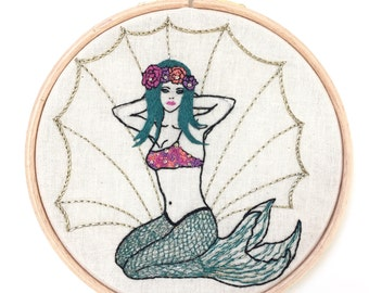 EMBROIDERY Kit The Spring MERMAID !