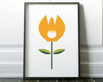 Minimalist Art, Wall Art Prints, Modern Print, Minimalist Print, Prints, Minimalist Poster, Digital Print, Modern Art, Flower Wall Prints
