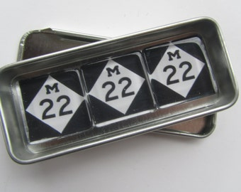 M22 Magnets Set, LEELANAU, Michigan, Up North Michigan, Leland, Suttons Bay, Traverse City, Northport, Glen Arbor, Northwest Michigan