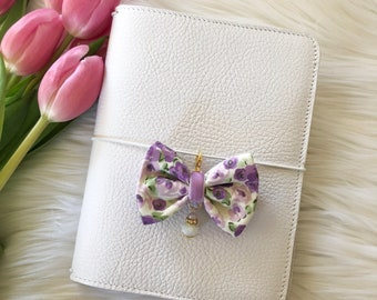 Dainty Spring Floral Purple Bow