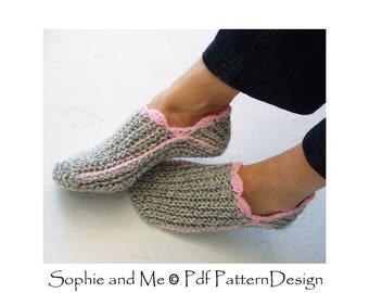 Ribbed Slipper Pocket Socks - Crochet Pattern - Instant Download Pdf
