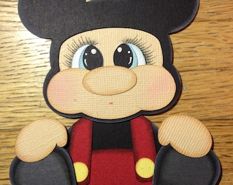 Mickey inspired paper piecing scrapbook embellishment