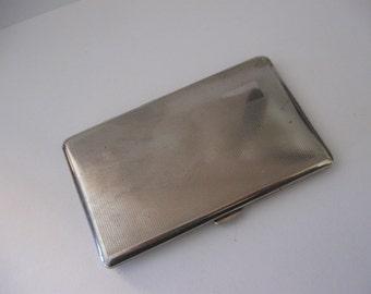 vintage silver cigarette case