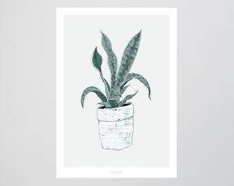 Wallplant No. 1 / Plant, Pot, Fine Art-Print, Wall-Art, Minimal Poster Art, Typography Art, Premium Poster, Kunstdruck Poster