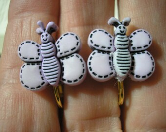 Play Earring - Clip - Butterfly - Lavender
