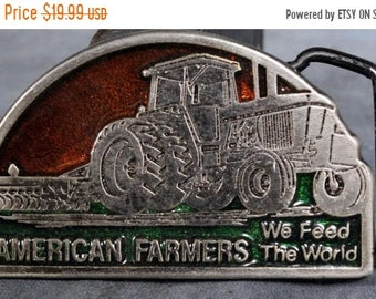 BTS American Farmers Feed the World Small Belt Buckle