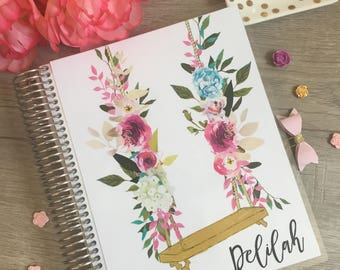 Erin Condren Planner Cover, Happy Planner Cover, Recollections Planner Cover, Floral planner cover, laminated dashboard, floral swing, A5