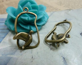 20pcs 14x25mm The Birdcage Antique Bronze Retro Pendant Charm For Jewelry Bracelet Necklace Charms Pendants C2004