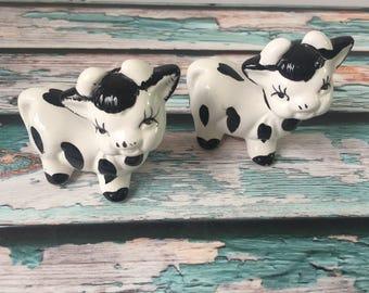Vintage Holstein Cow Salt & Pepper Shakers