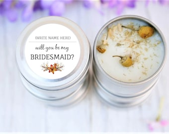 Will you be my Bridesmaid, Bridesmaids' gifts, Party Gifts, Hens Party, Candle Bomboniere, Bridal Shower, Bacherlorette, Thank you gifts